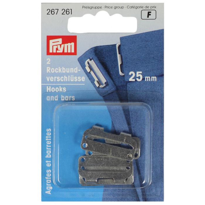 Agrafes et barrettes pour jupes 25 mm - Prym