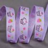 Ruban gros grain 10 mm gourmandises - violet x 10 cm