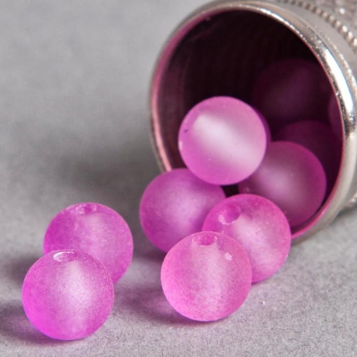 Perle violet fluo transparente en résine 6mm x10