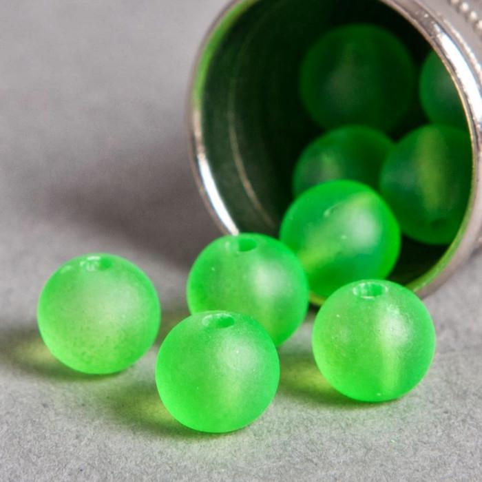 Perle vert fluo transparente en résine 6mm x10