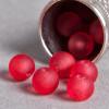 Perle rouge fluo transparente en résine 6mm x10