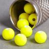 Perle jaune fluo en résine 6mm x10