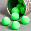 Perle vert fluo en résine 6mm x10