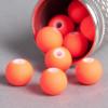 Perle orange fluo en résine 6mm x10