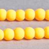 Perle  fluo orange en résine 4mm x20