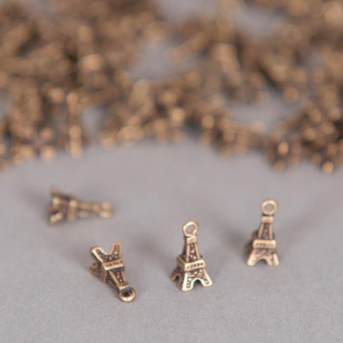 Breloque Tour Eiffel 10mm doré ancien x1