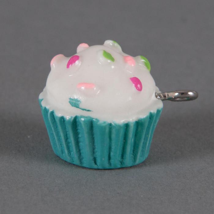 Breloque Cupcake vermicelles colorés x1