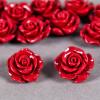 Fleur en poudre de nacre 18 mm rouge foncé x1