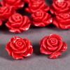 Fleur en poudre de nacre 18 mm rose foncé x1