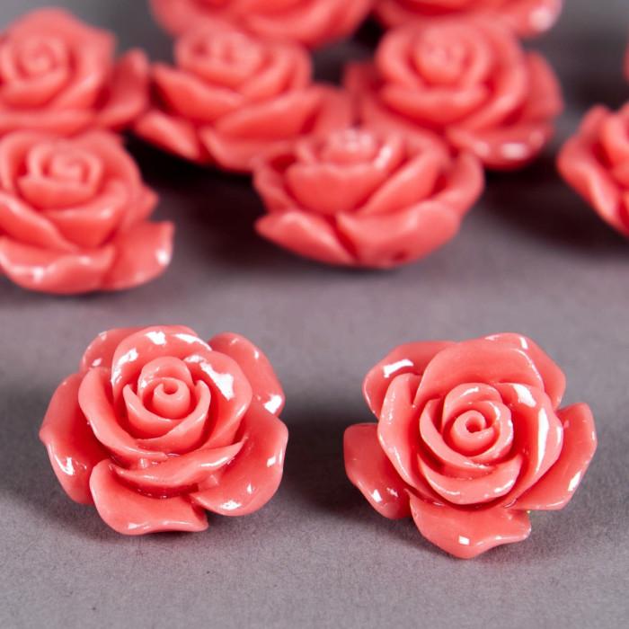 Fleur en poudre de nacre 18 mm rose x1
