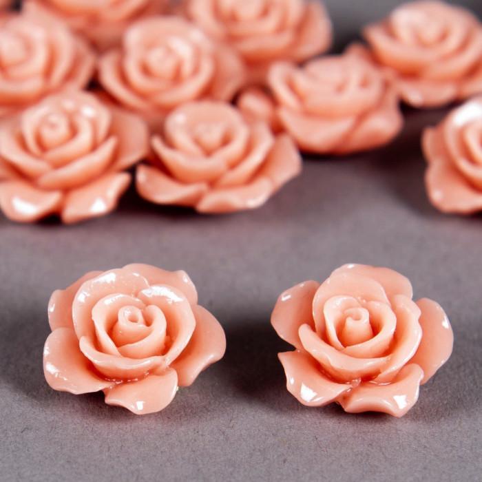 Fleur en poudre de nacre 15 mm rose clair x1
