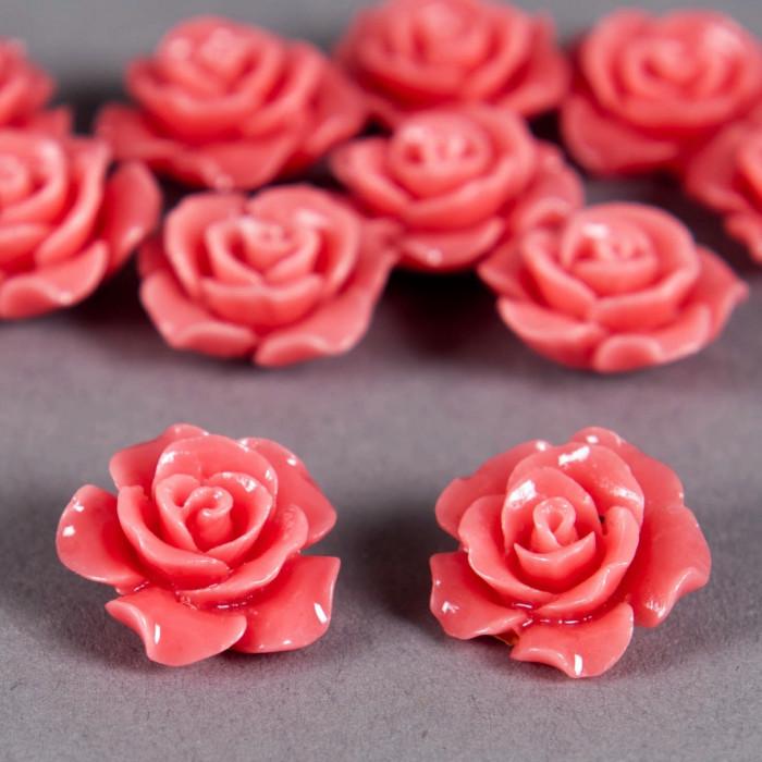 Fleur en poudre de nacre 15 mm rose x1