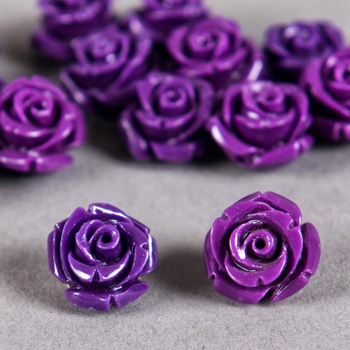 Fleur en poudre de nacre 12 mm violette x1