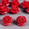 Fleur en poudre de nacre 12 mm rouge foncé x1