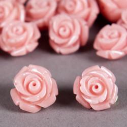 Fleur en poudre de nacre 12 mm rose clair x1