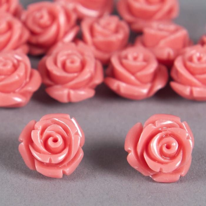 Fleur en poudre de nacre 12 mm rose x1