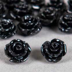 Fleur en poudre de nacre 12 mm noire x1