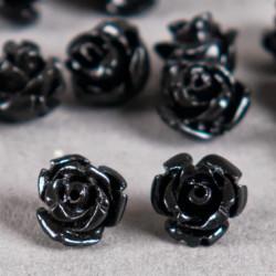 Fleur en poudre de nacre 07 mm noire x1