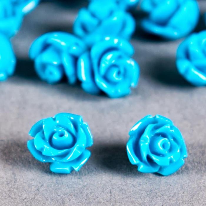 Fleur en poudre de nacre 07 mm bleu turquoise x1