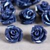 Fleur en poudre de nacre 07 mm bleu nuit x1