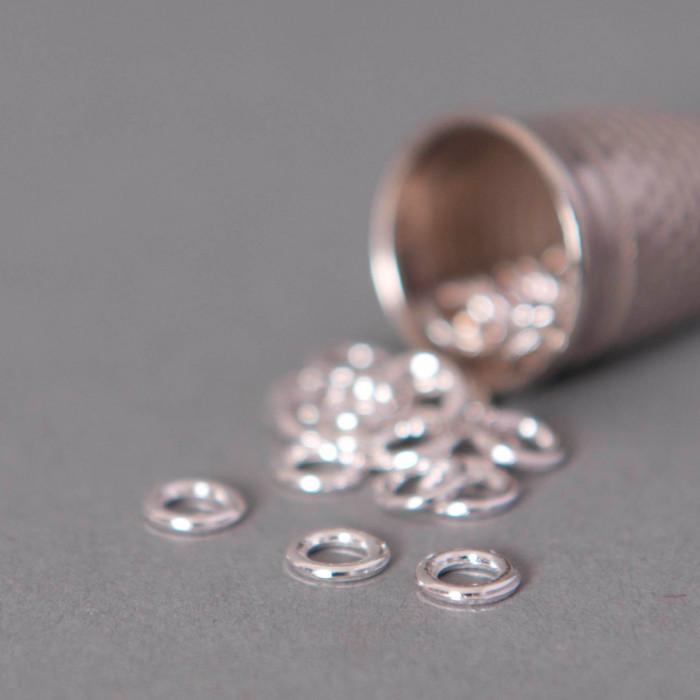 Anneaux ronds soudés 6mm argent x20