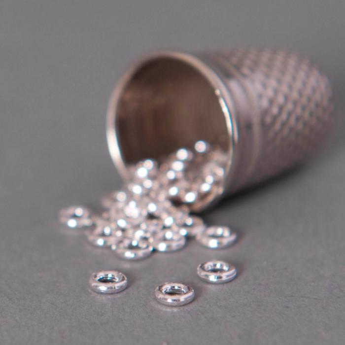 Anneaux ronds soudés 4mm argent x20