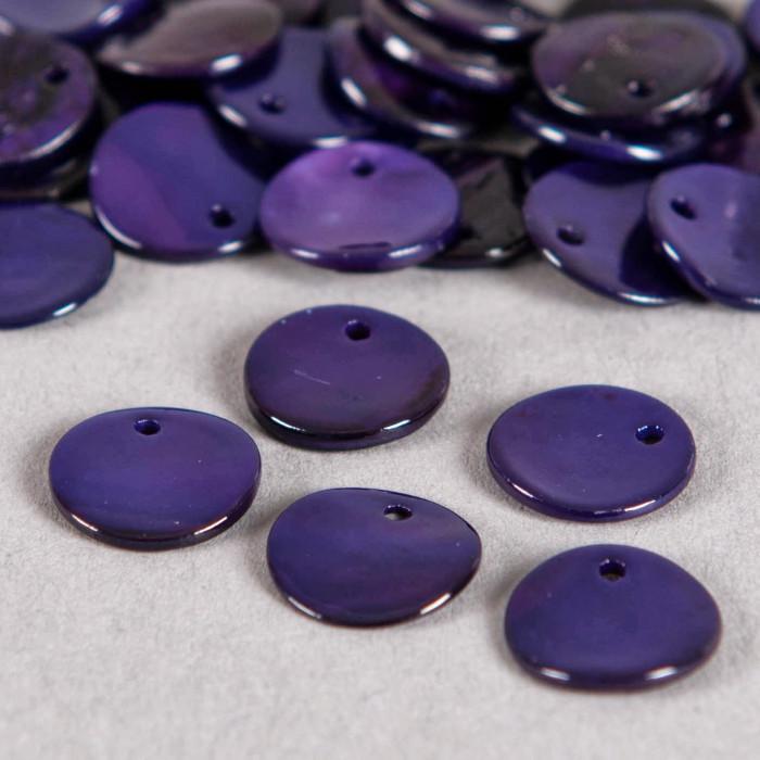 Sequin en nacre agoya violet foncé x1