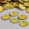 Sequin en nacre agoya jaune x1