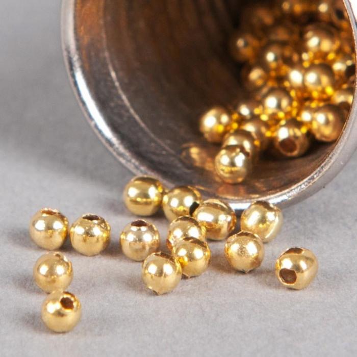 Perle en métal unie 5mm doré x10