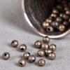 Perle en métal unie 5mm bronze x10