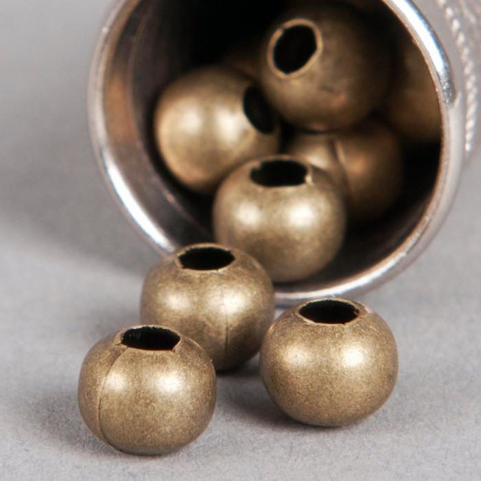 Perle en métal unie 8mm bronze x10