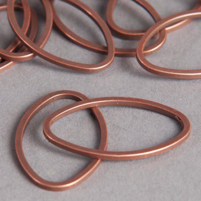 Anneau ovale fermé 26 mm cuivre x1