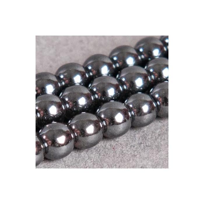 Perles hématite ronde 5mm x90