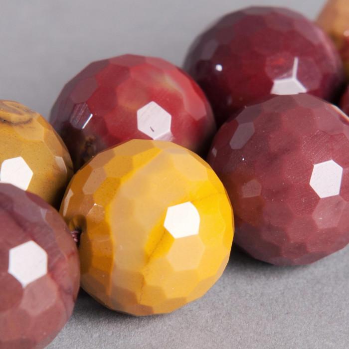 Jaspe rouge : Perle ronde à facettes 20mm x1