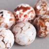Agate de Feu : perle ronde à facettes 16mm x1