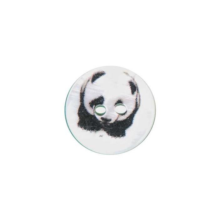 Bouton de nacre imprimé Panda