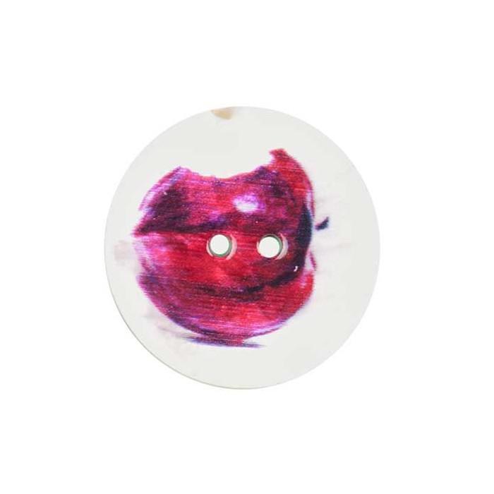 Bouton de nacre imprimé nature morte Pomme
