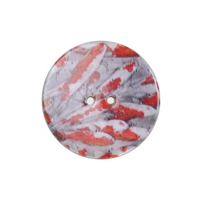 Bouton de nacre imprimé poissons