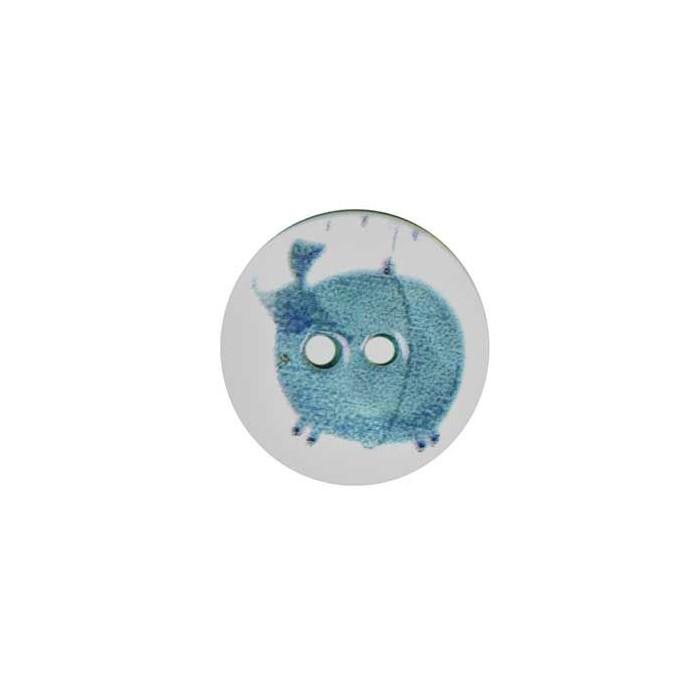 Bouton de nacre imprimé éléphant ballon