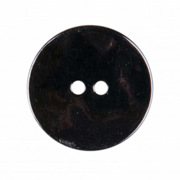 Bouton en nacre deux trous noir