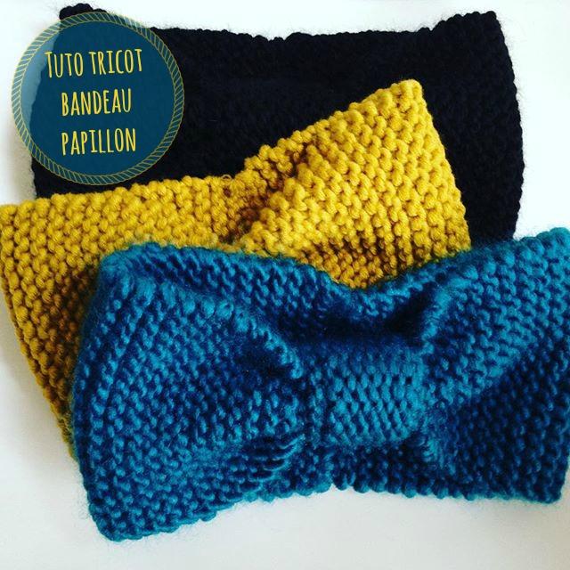 atelier de la cr ation tuto tricot bandeau papillon en drops andes. Black Bedroom Furniture Sets. Home Design Ideas