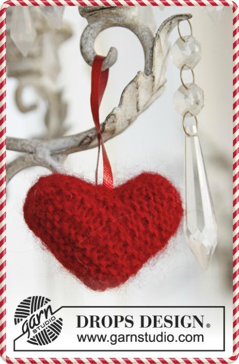 coeur en tricot drops