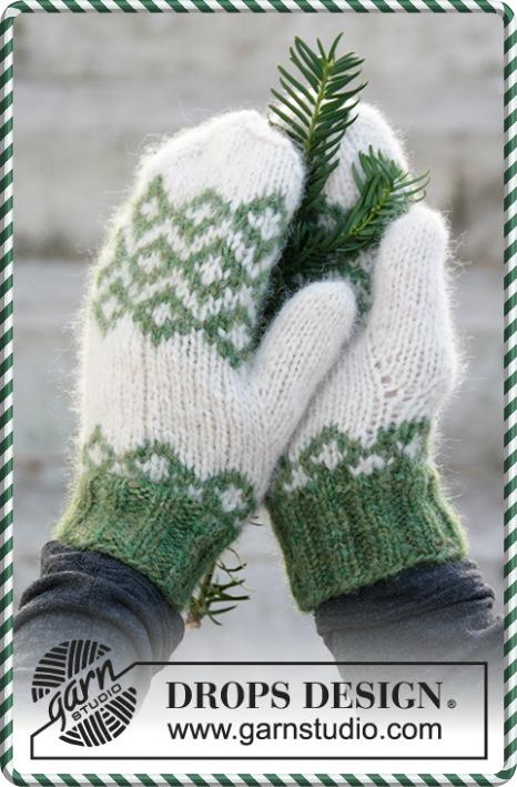 gants drops air Tricot pour Noël