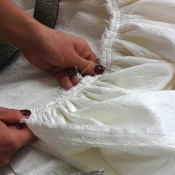 Atelier de la cr ation jupe fronc e lastique ultra rapide - Tuto jupe facile elastique ...