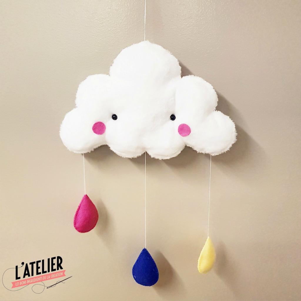 Atelier de la création - Tuto mobile nuage