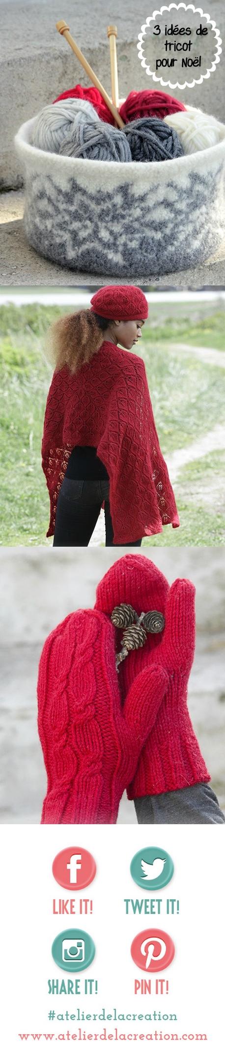modèles gratuits au tricot pour noel atelier de la creation
