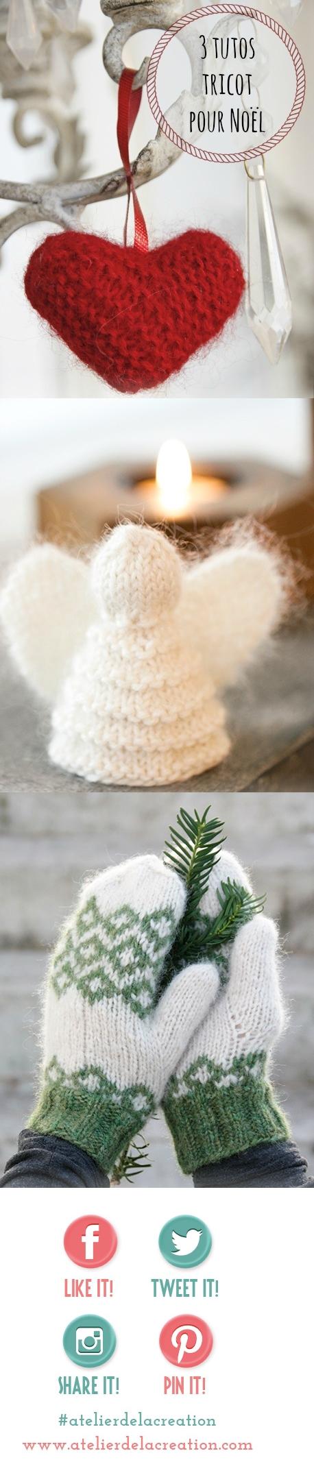 modèles noel tricot laine drops