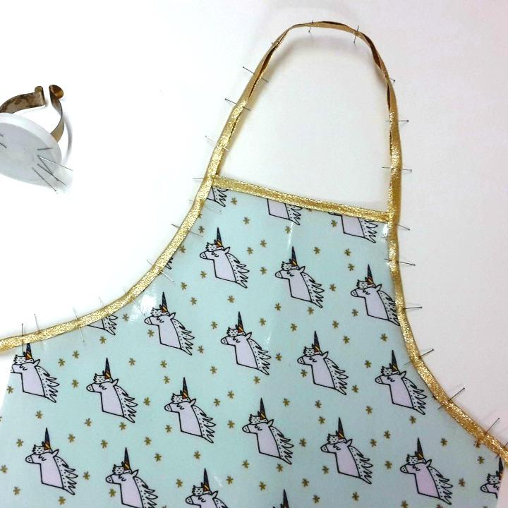 tuto couture tablier licorne enfant Atelier de la création par pik et kou